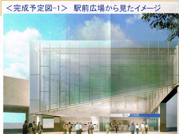 下北沢駅新宿側改札イメージ