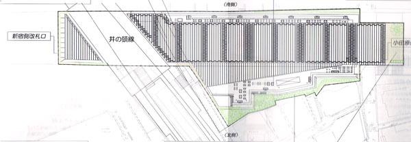 下北沢駅植栽計画図