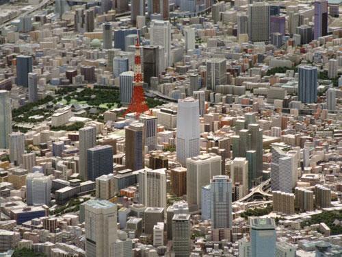 東京1/1000模型