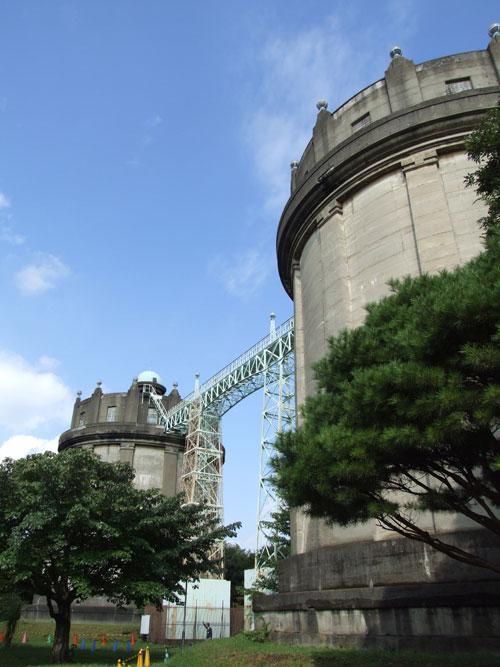 駒沢給水所 双子の給水塔
